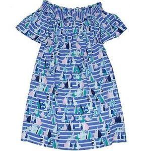 New Vineyard Vines Harbor Scene off-shoulder dress